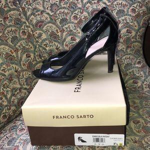 Franco Sarto Emmy Patent Ankle Strap Heels